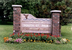 South St. Paul Welcome Sign