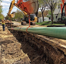Image of Xcel Pipeline Construction Project