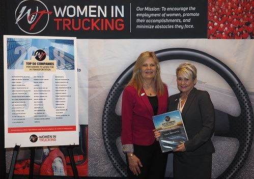 Image of Rihm Kenworth Company with Women in Trucking Award