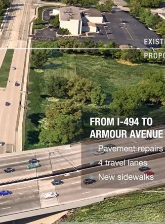 Ariel image of Concord Street by I-494