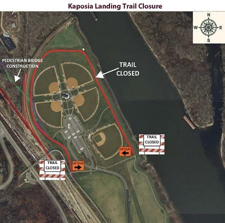 Image of Kaposia Landing Trail Closure Map